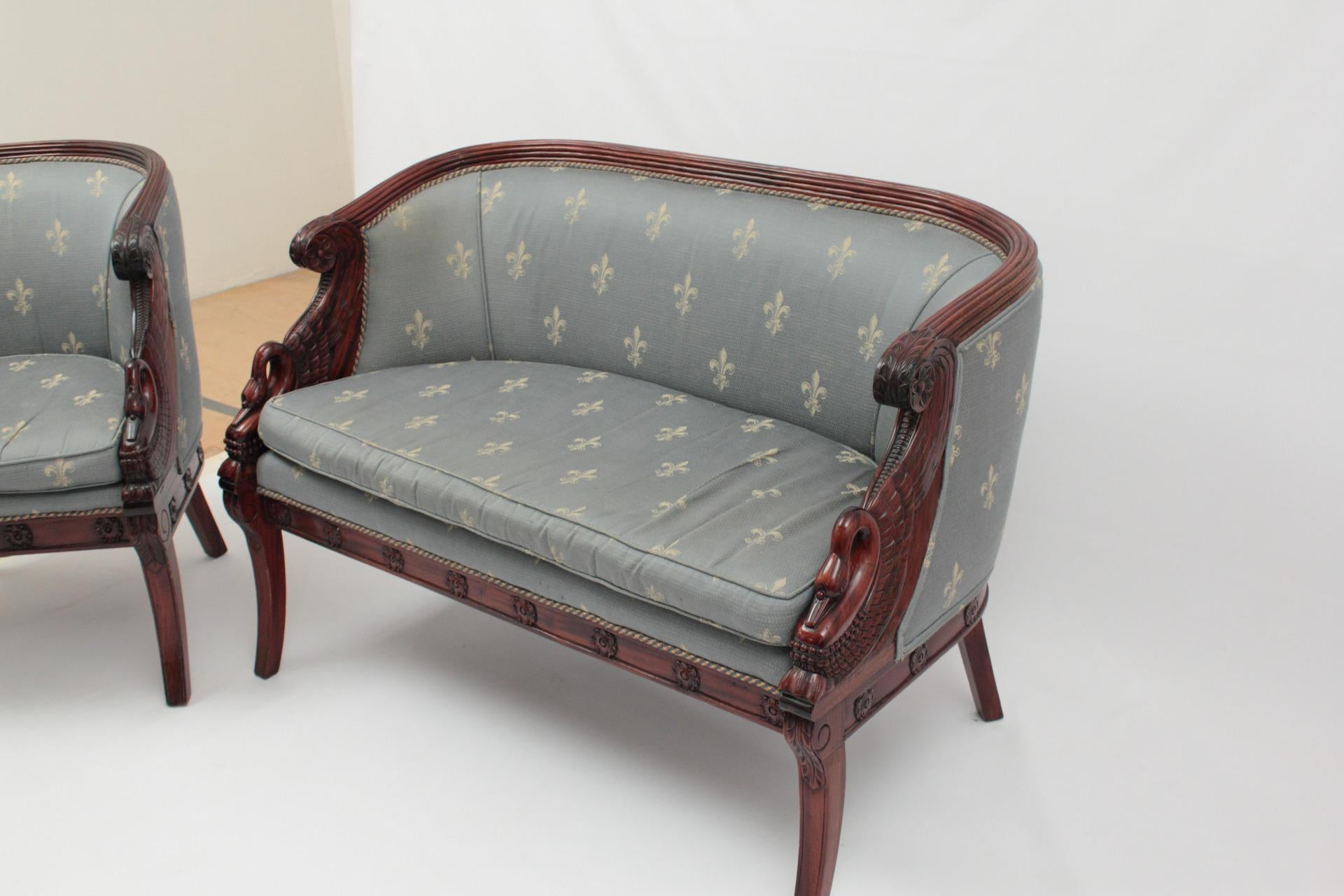 Empire Style Sofa U0026 Chairs   Set Of 3   Image 4 ...