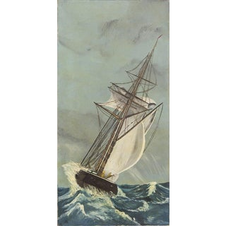 Vintage Nautical Oil Painting