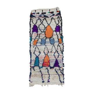 Vintage Moroccan Azilal Rug - 3′ × 7′6″