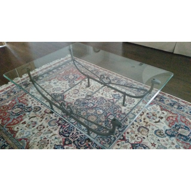 Image of Giacometti Style Iron Etruscan Cocktail Table