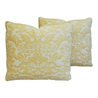 Italian Mariano Fortuny Corone Crown Pillows- a Pair