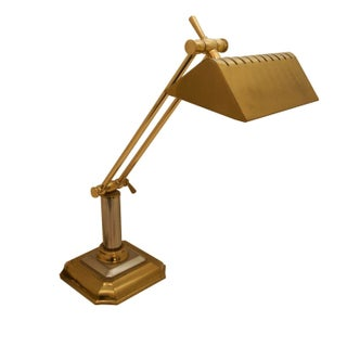 Vintage Brass and Stainless Desk Lamp