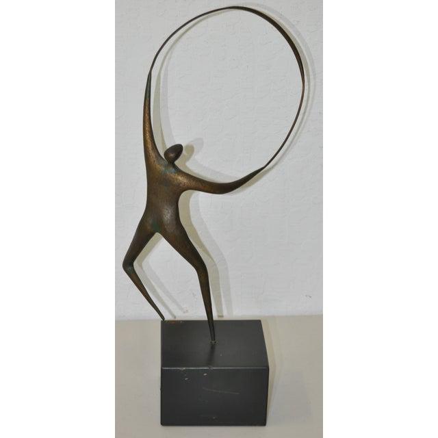 Curtis Jere Bronze Hoop & Figure - Image 5 of 5