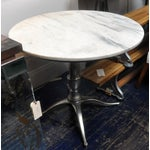 Image of Café Table With Chrome Plated Base