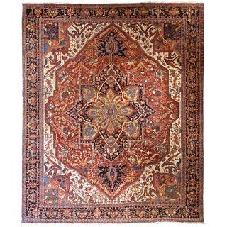 Antique Persian Heriz Carpet