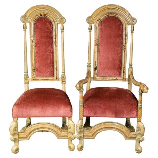 French Chinoiserie Dining Chairs - Set of 10