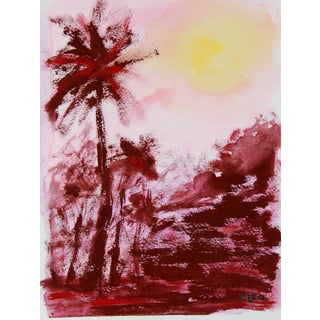 """""""Tropical Sunset #3"""" Landscape Painting by Cleo"""