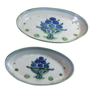 M.A. Hadley Hand Creafted Serving Bowls - A Pair
