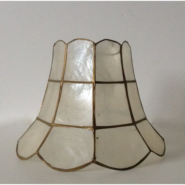 1960's Capiz Shell Scalloped Clip-On Shade - Image 6 of 7