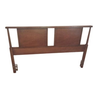 Mid-Century Walnut Full Sized Headboard