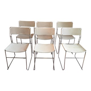 Vintage Chrome & Enamel Chairs - Set of 6