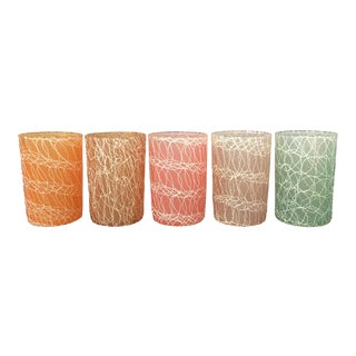 Mid-Century Spaghetti Glasses - Set of 5