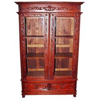 Mahogany Biblioteque Bookcase
