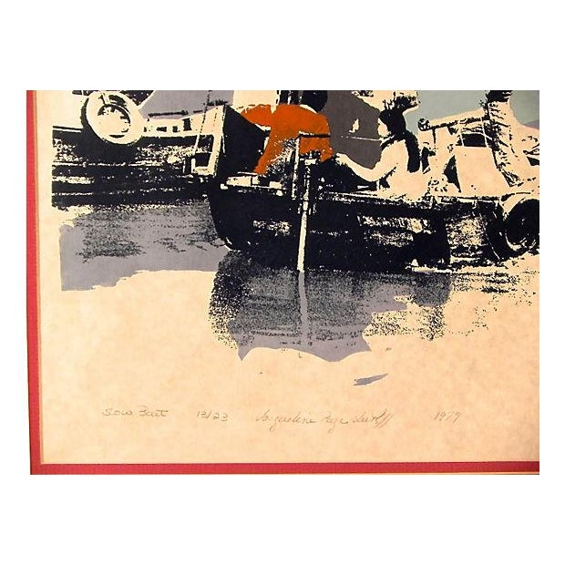 "Image of ""Slow Boat"" Lithograph"