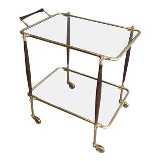 Italian Midcentury Modern Bar Cart by Cesare Lacca