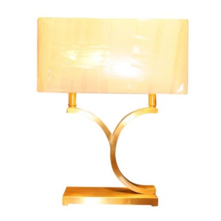 Shaped Brass Accent Lamp
