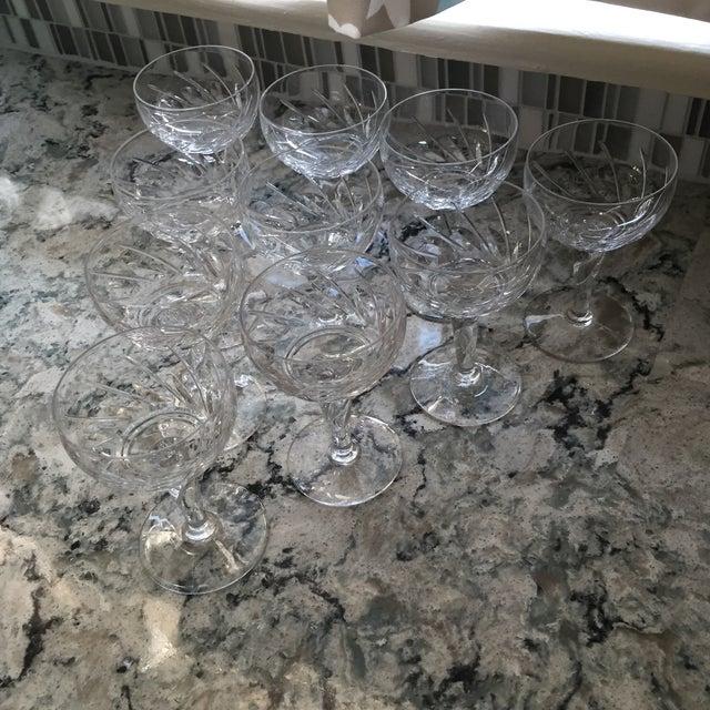 Vintage Crystal Dessert Wine Glasses - Set of Ten - Image 5 of 6