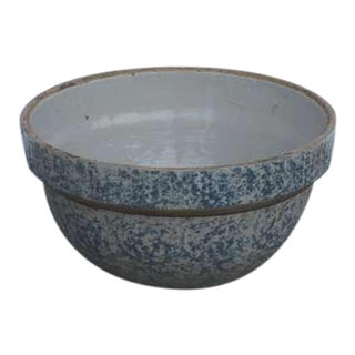 19th Century Spongeware Bake Bowl
