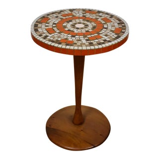Teak & Tile Petite Round End Table