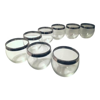 Dorothy Thorpe Style Mid-Century Roly Poly Glasses - Set of 8