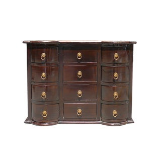 Brown Chinese Twelve Drawers Chest