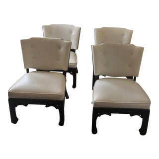 Chinoiserie Game Table Chairs - Set of 4