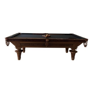 Antique Walnut Pool Table