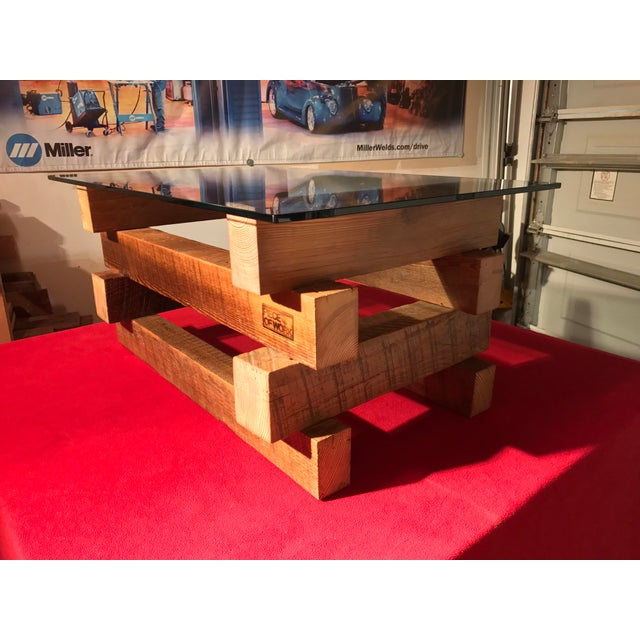 4 x 4 Wood Base Coffee Table - Image 6 of 6