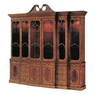 Maitland Smith Lighted Breakfront China Cabinet