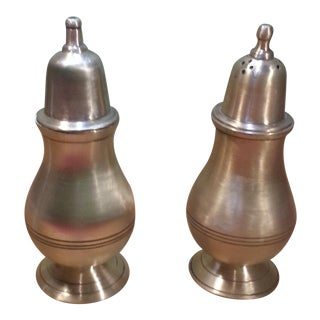 1940's Vintage Solid Brass Salt and Pepper Shakers