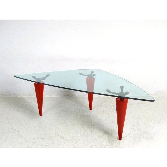 1991 Isao Hosoe for Cassina Italia 'Oskar in Red Leather' Table - Image 3 of 7