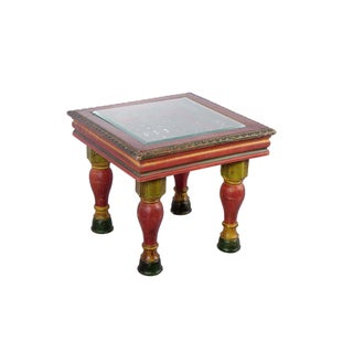 Handmade Wooden Carved Traditional Side / End Table