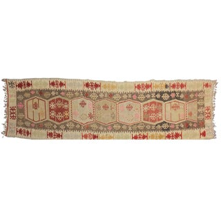 "Turkish Kilim Runner - 3'3"" x 10'10"""