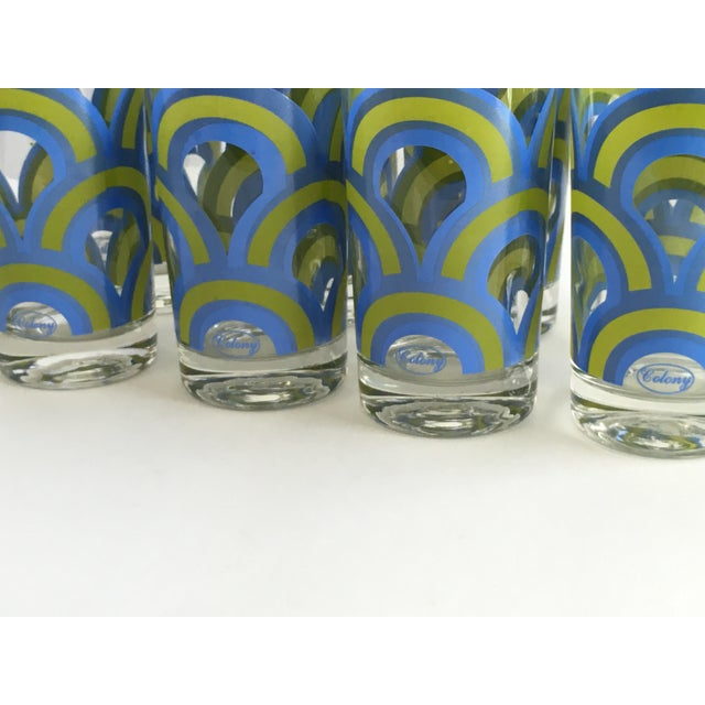 Colony Barware Mid-Century Drinking Glasses - S/8 - Image 4 of 5