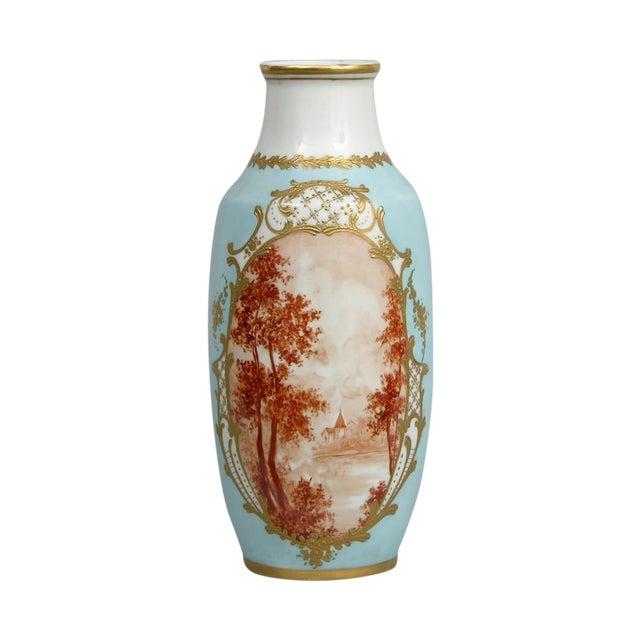 French Antique Porcelain Toile Vase - Image 1 of 10
