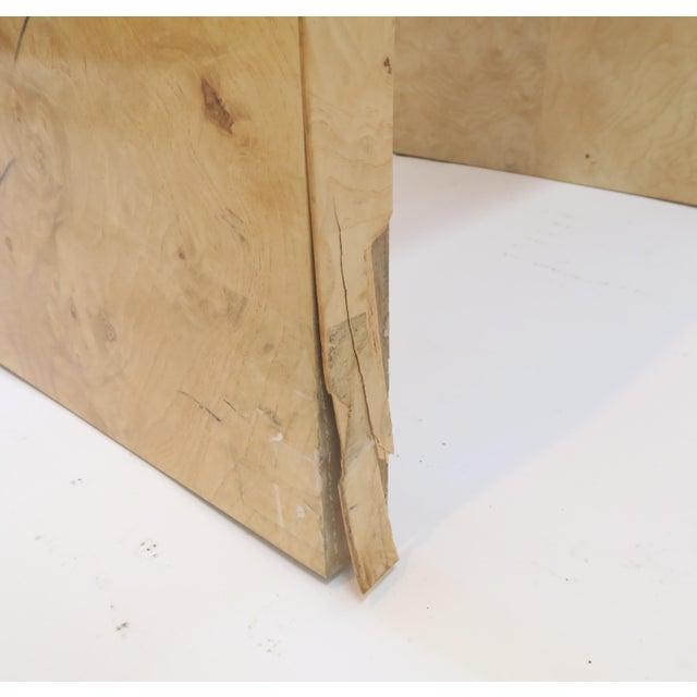 Henredon Vintage Burlwood Side Tables - A Pair - Image 8 of 8