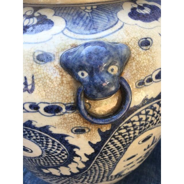 Chinese Foo Dog/Dragon Lidded Urn - Image 6 of 9