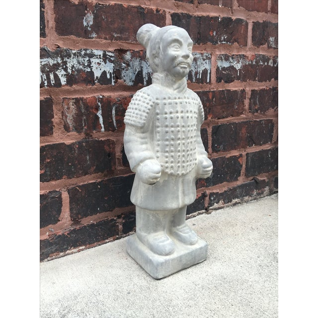 Vintage Large Chinoiserie Warrior Statue - Image 4 of 4