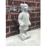 Image of Vintage Large Chinoiserie Warrior Statue
