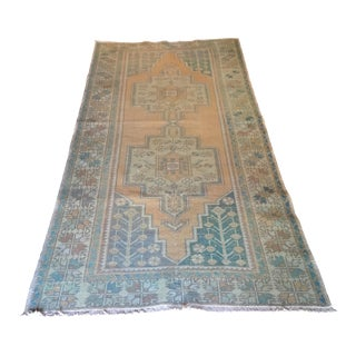 Vintage Turkish Rug - 3′11″ × 8′8″