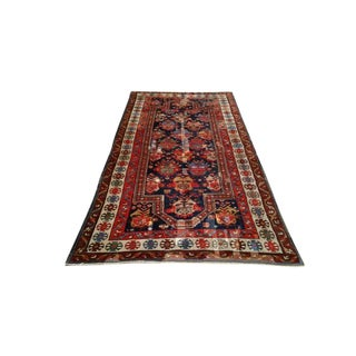 4′6″ × 8′8″ Antique Persian Caucasian Karabagh Hand Knotted Rug - Size Cat. 5x8