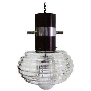 Murano Glass and Chrome Pendant Lamp