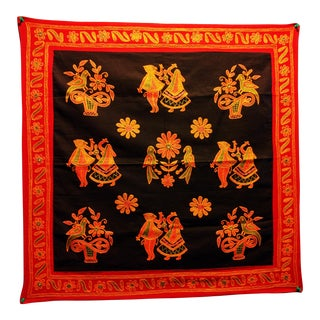 Ethnic Indian Embroidered Tapestry