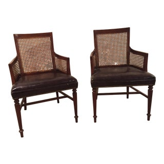 Vintage Hickory Regency Style Side Chairs - A Pair