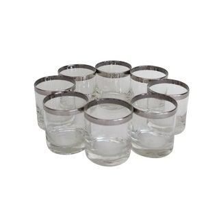Dorothy Thorpe Silver Rim Rock Glasses – Set of 8