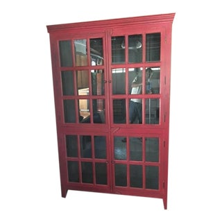 Wooden Red China Cabinet