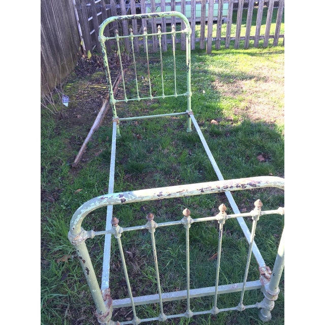 Image of Antique French Metal Bed
