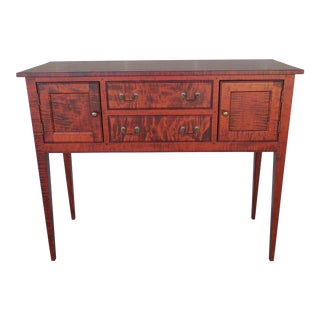 J L Treharn Federal Hepplewhite Style Tiger Maple Sideboard