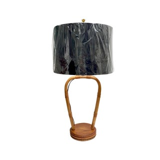 Mid Century Rattan Tiki Style Lamp
