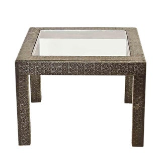 Vintage Silver Embossed Coffee Table